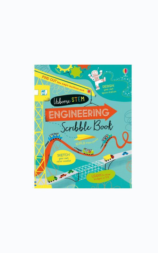 Usborne Engineering Scribble Book-Usborne-Sandy's Secret Wednesdays Unique Boutique