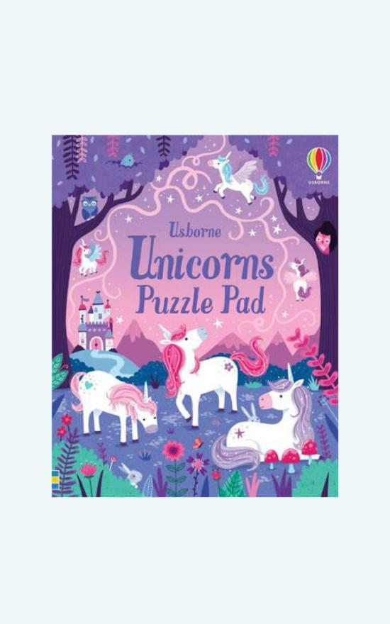 Usborne Unicorns Puzzle Pad Book-Usborne-Sandy's Secret Wednesdays Unique Boutique