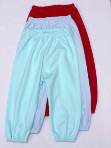 Pima elastic bubble pants/ Red, Blue, Mint