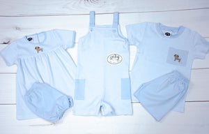 Pima Puppy boy diaper set/ diaper cover