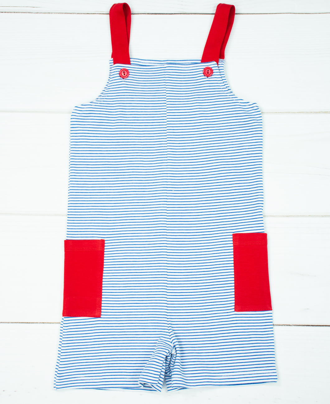 Pima Royal stripes Harry/ red contrast