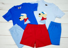 Color T-shirt w/ applique - Captain Dog