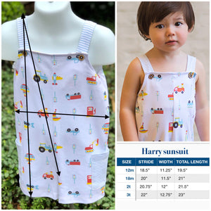 Pima Harry sunsuit/ vehicles