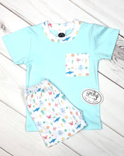 Pima pocket shirt set Mint/ Under the sea