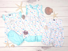 Pima Eloise tunic shorts set/ Under the Sea