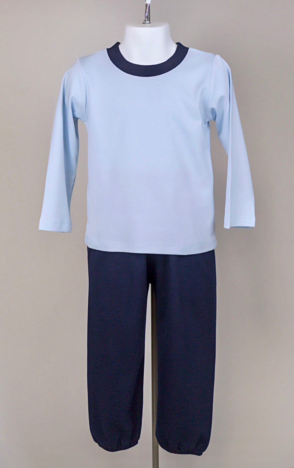 Pima crewneck lounge set - Blue/ navy