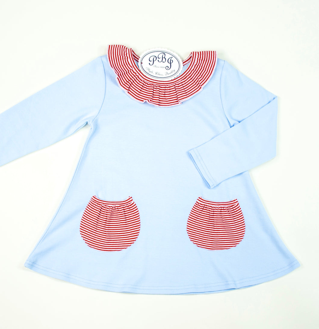 Swing Top w/ pockets Blue and red stripes
