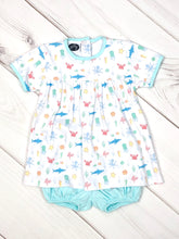 Pima Boy diaper set / Sea print