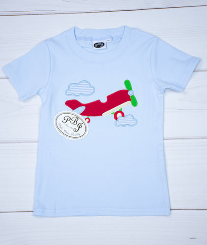 Blue T-shirt w/ applique / Plane