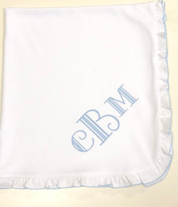 Pima premium baby blankets (3 different edging colors)