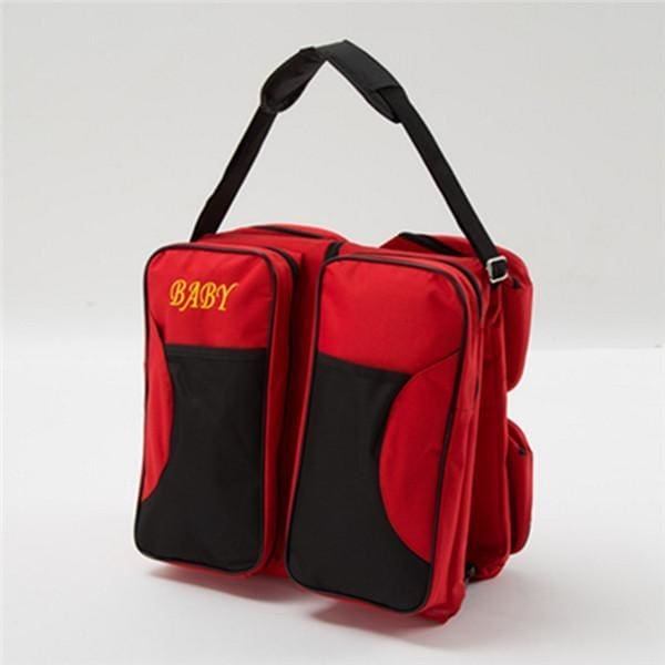 3-In-1 Portable Diaper Bag - Red