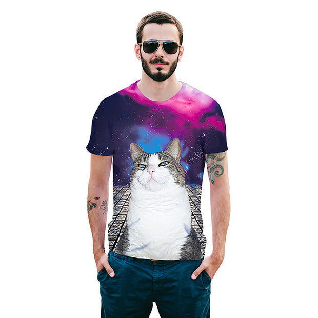 Cat Short Sleeve 3D Print T-Shirt