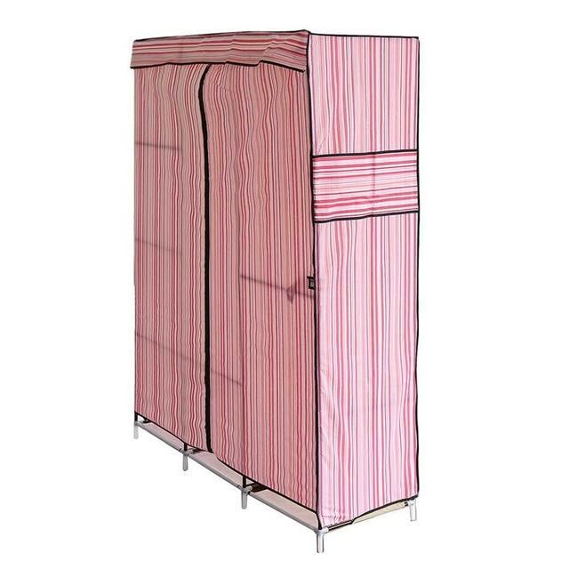 Simple Design 70 Inch Folding Wardrobe Closet - United States / Pink - Home - Storage