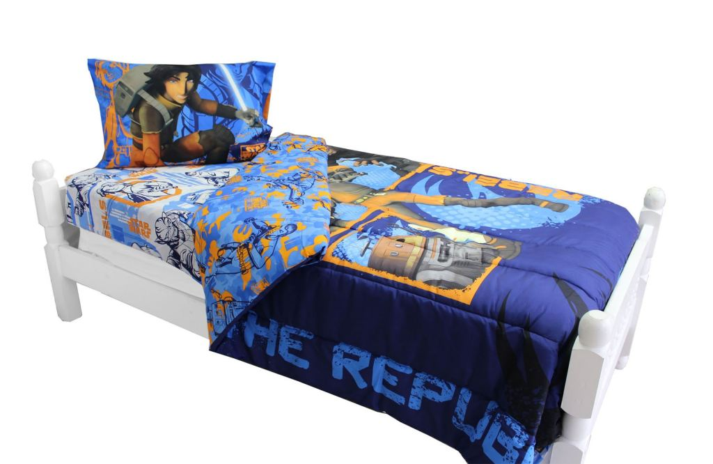 Star Wars Bedding And Curtains Rebels Fight Comforter Sheets And Window Panels With Tie-Backs