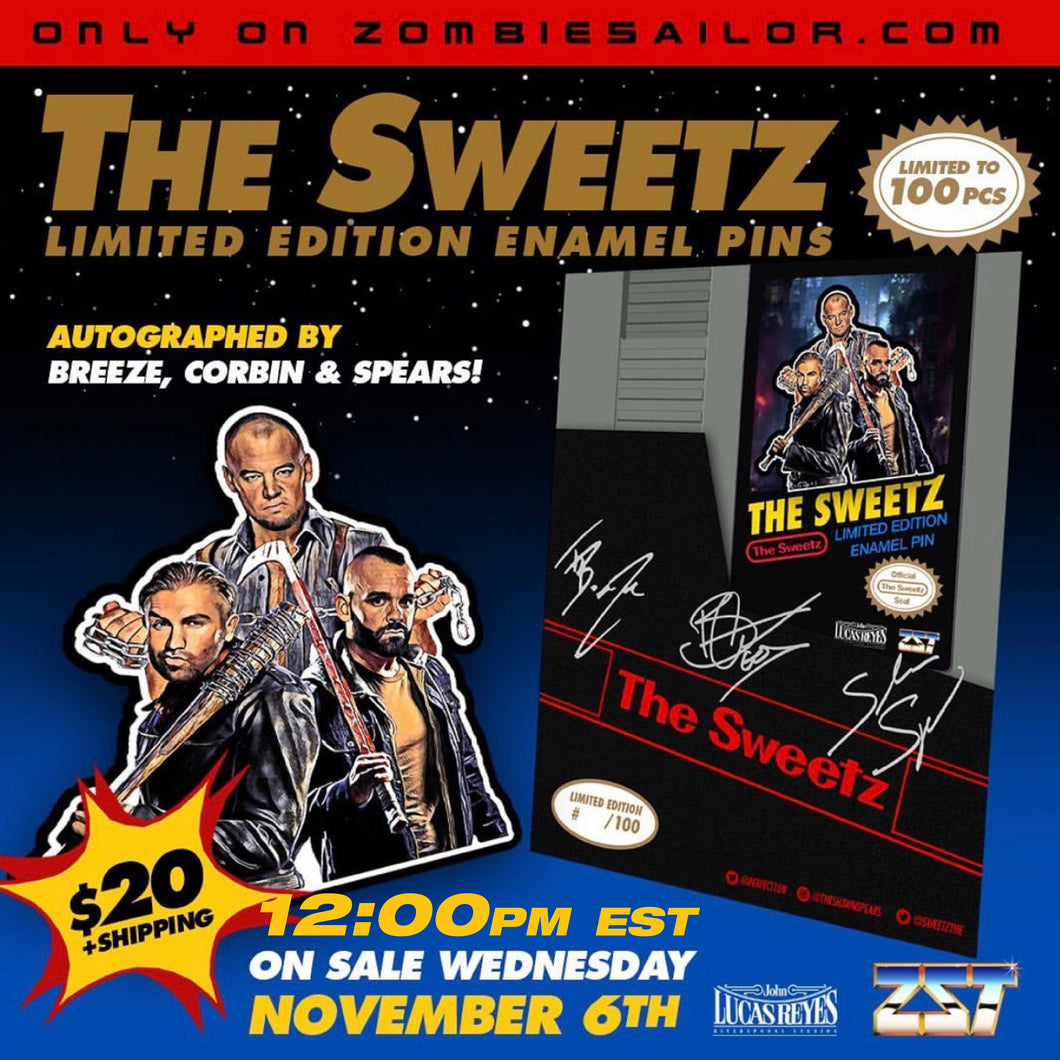 Sweetz retro autographed pin - ships in 2 weeks