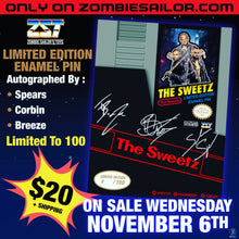 Load image into Gallery viewer, Sweetz retro autographed pin - ships in 2 weeks