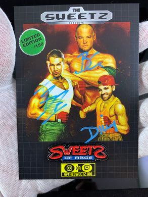 SWEETZ - TRIPLE AUTOGRAPHED pin