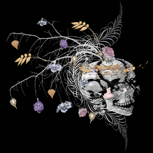 romantic decorative skull