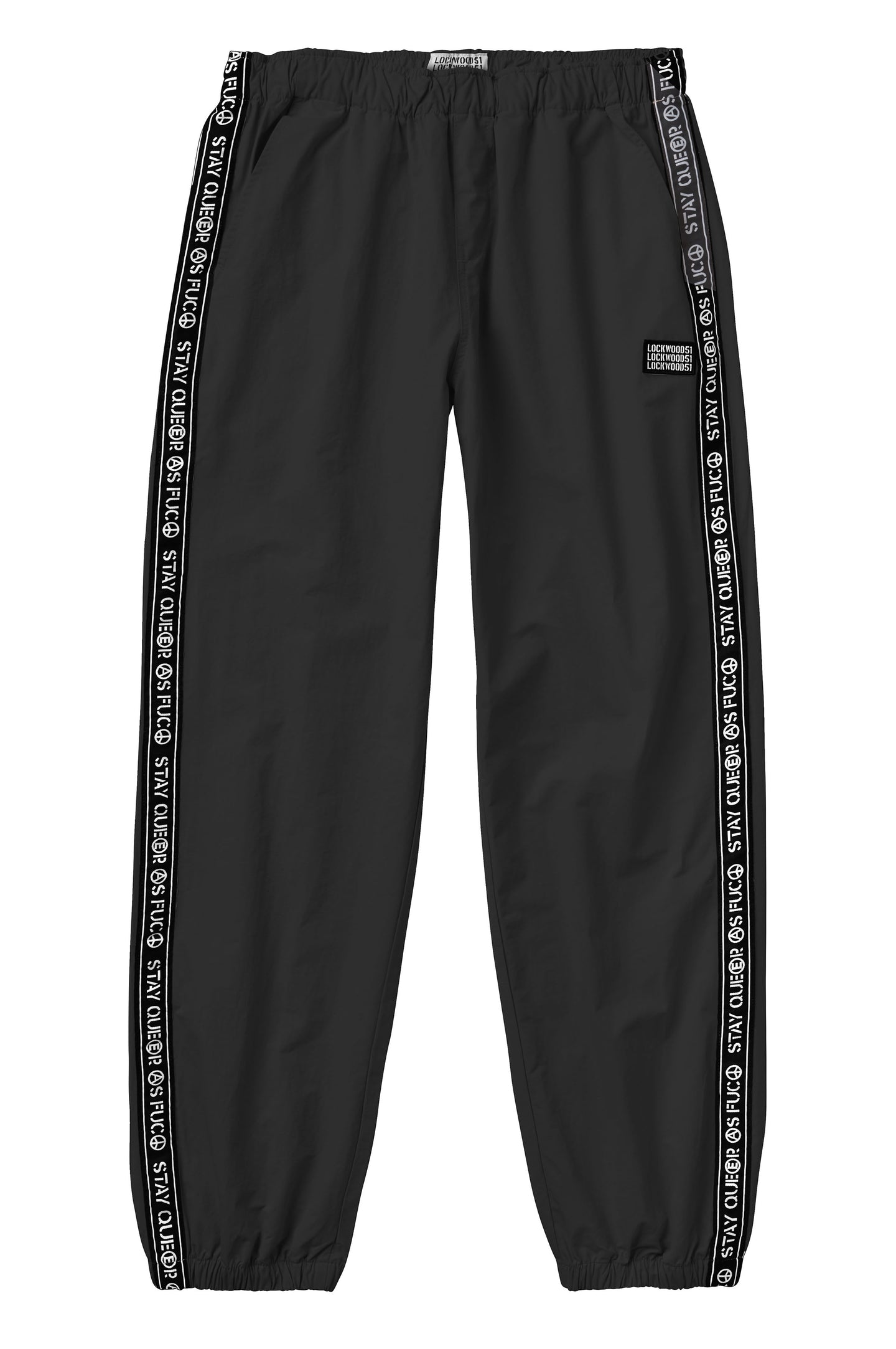 Nylon Track Pants • Black
