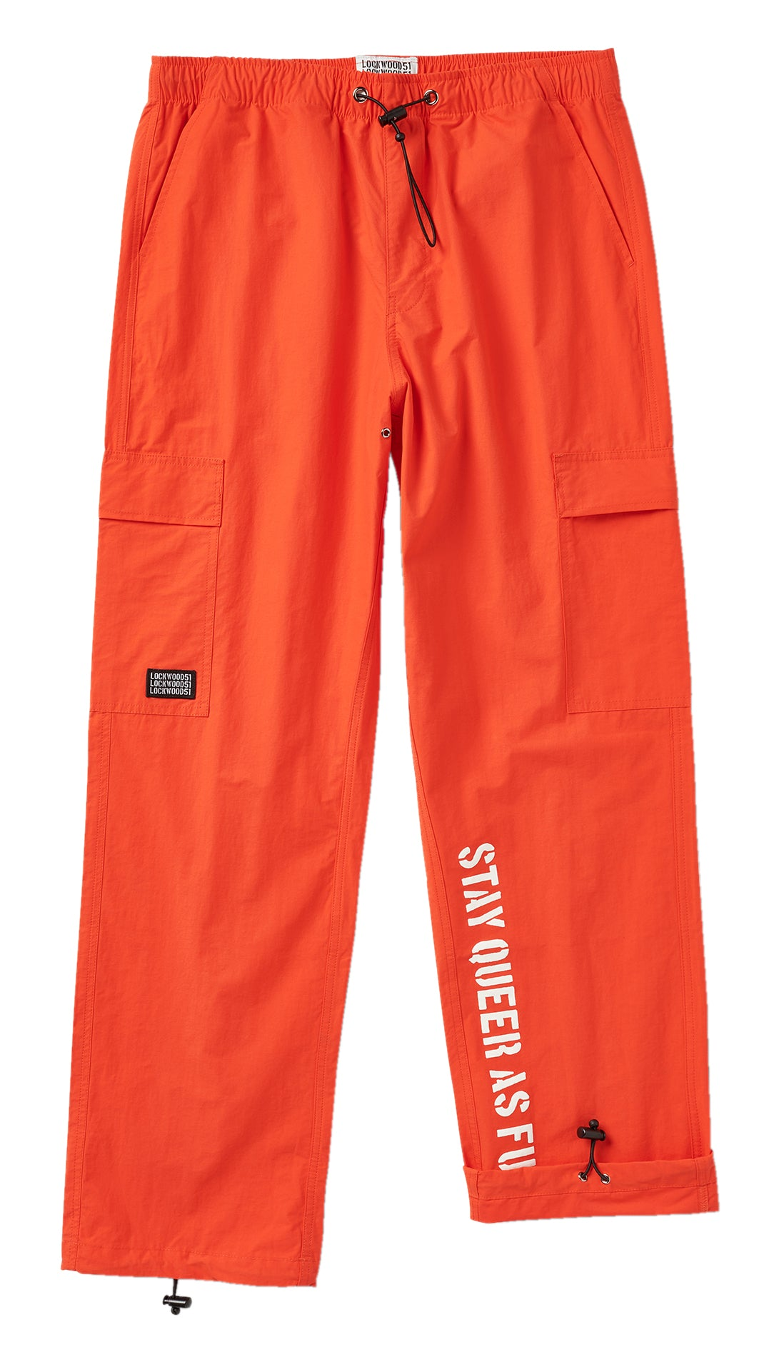 Nylon Cargo Pants • Orange