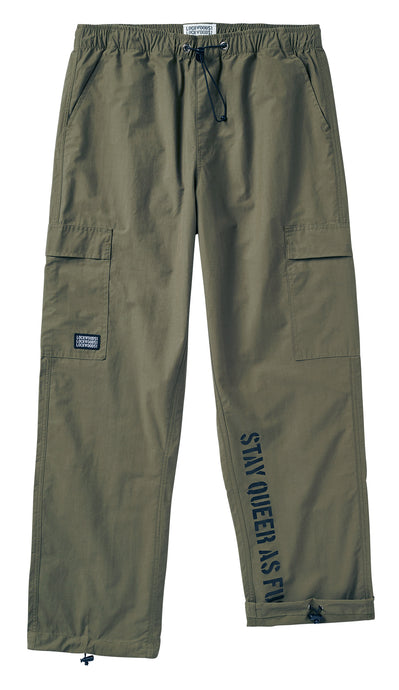 Nylon Cargo Pants • Military Green