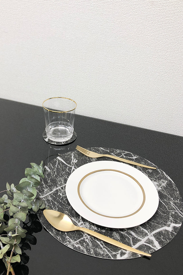 STONE PATTERN PLACEMAT & COASTER SET