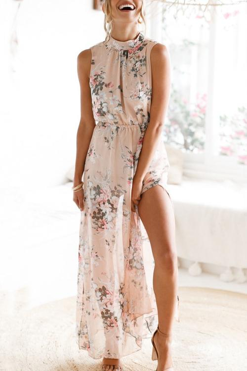 b8cdda921900 Shyoin Blush Floral Maxi Dress