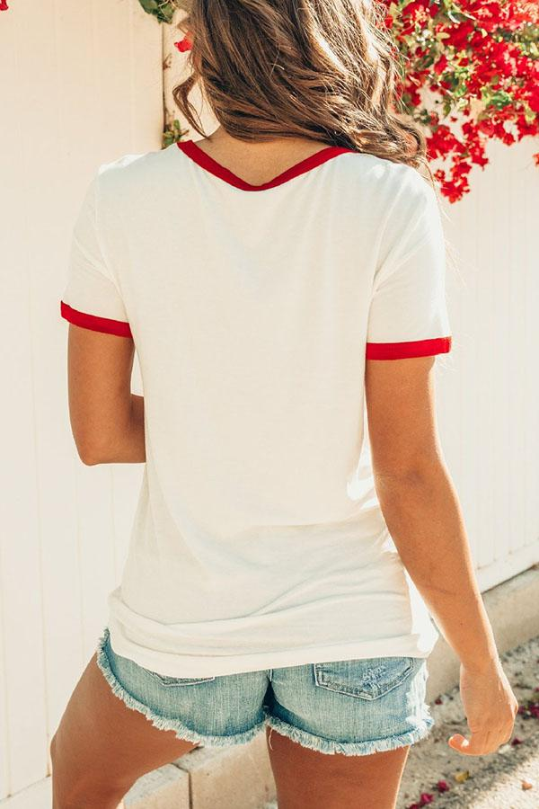 925f2add4a57e Shyoin Rainbow   Letter Printed White T-shirt