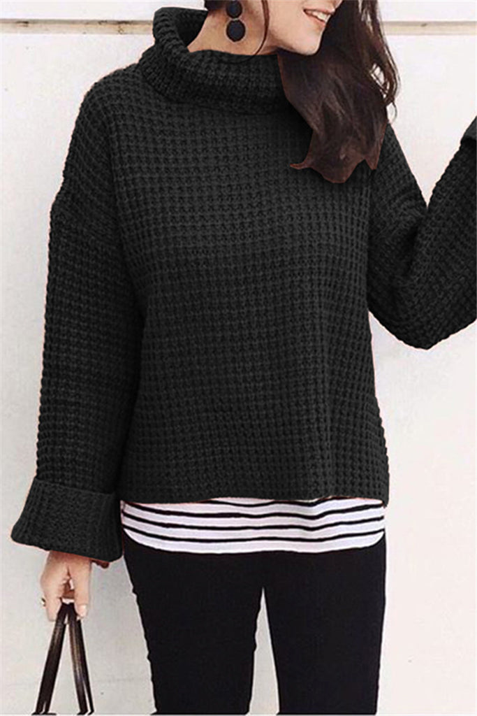 Shyoin Free Ribbed Cropped Turtleneck Sweater 038b288aa