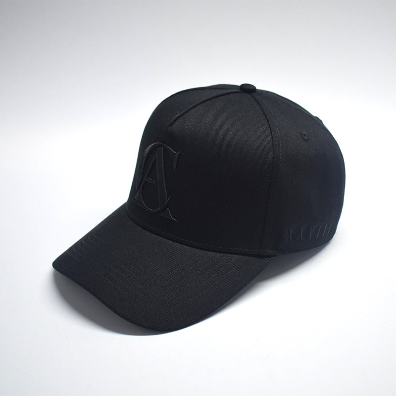 ALL BLACK A-FRAME SNAP BACK