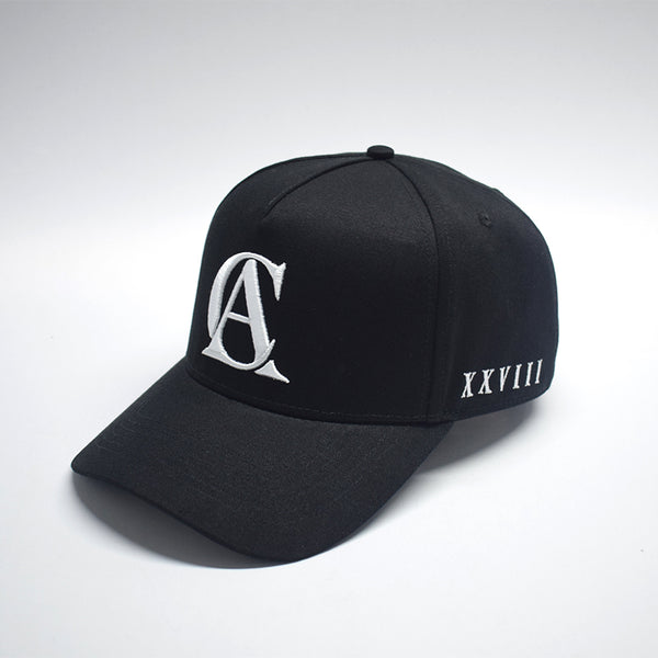 BLACK A-FRAME SNAP BACK