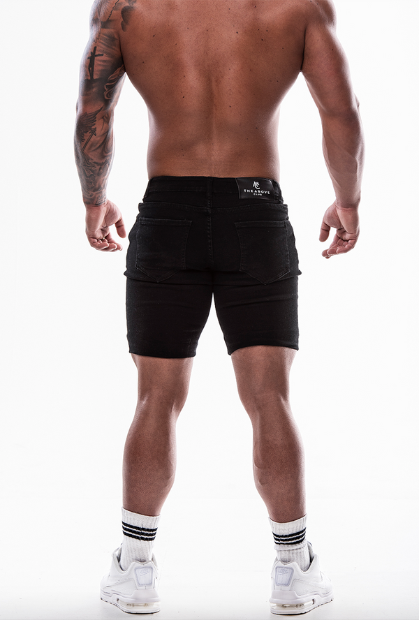 Black Ripped Shorts