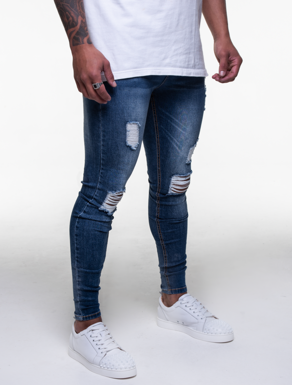 SPLICED BLUE R&R JEANS