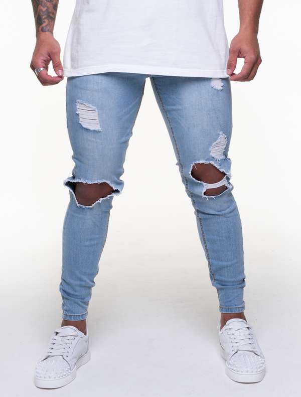 ALIZÉ BLUE ULTRA RIPPED JEANS
