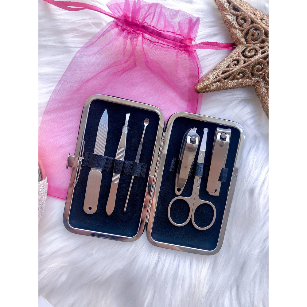 Manicure Kit, Black and White