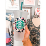 Reusable Cup, Hot Pink Spots