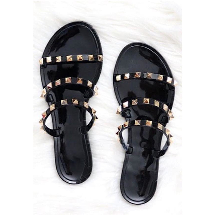 Such A Stud Sandals, Black PREORDER