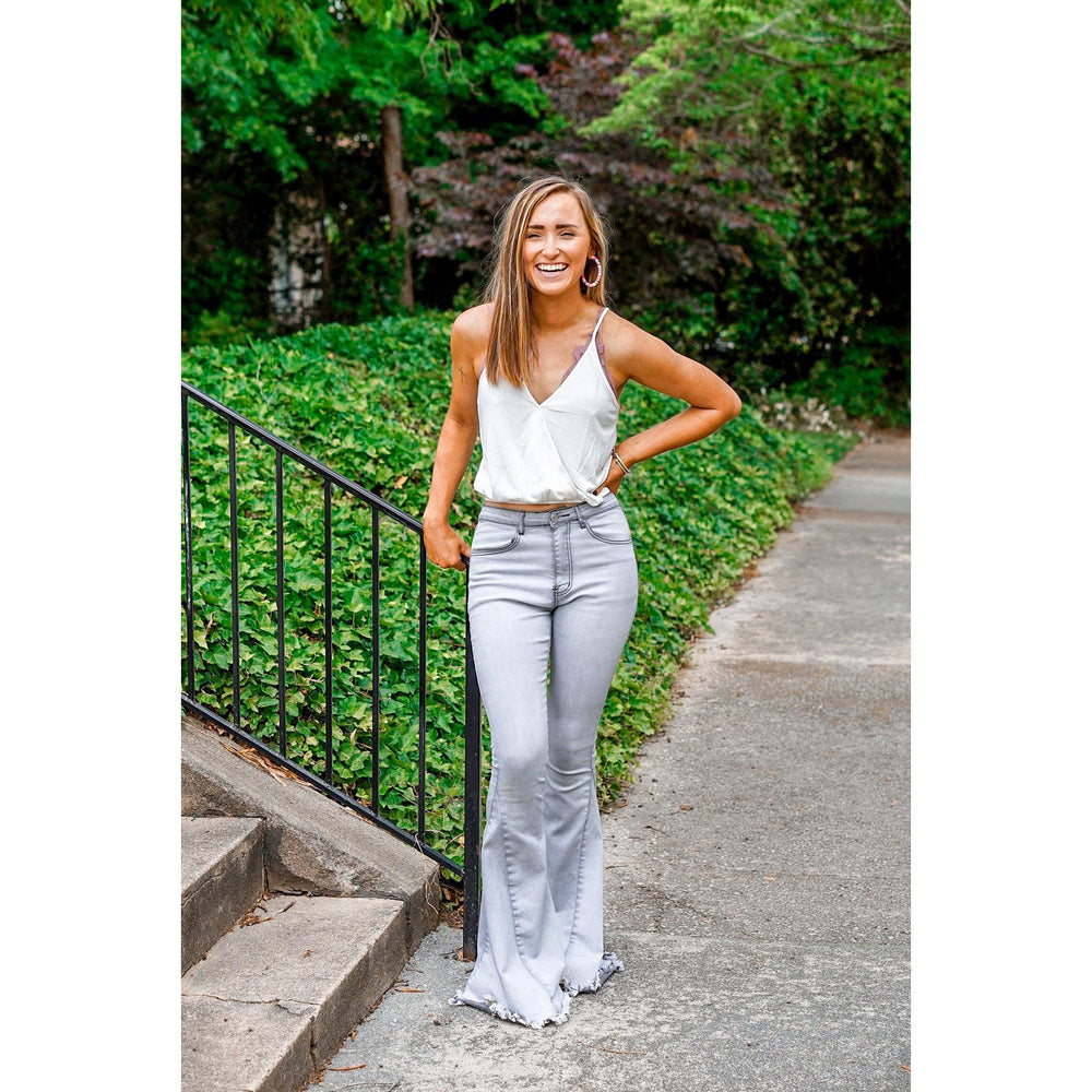Summer Grey Washed Flares