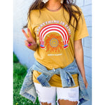 Everything is Fine Tee, Mustard PREORDER