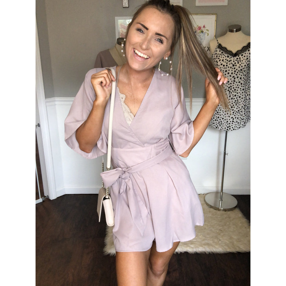 For The Love of Lilac Romper