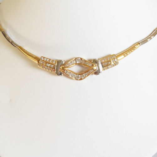 Beautiful 14K Yellow Gold Necklace 15.5 in - C106