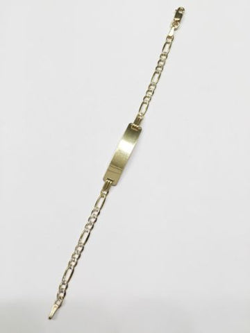 14K Yellow Gold Kid Bracelet - 5.5 inches - B60