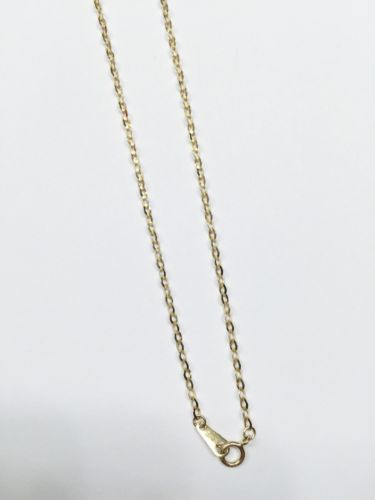 14K Gold Tricolor Necklace-Yellow Chain and small cross pendant C747677