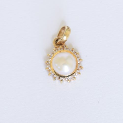 Small 14K yellow gold Pearl Pendants in many size & many designs- P288/293