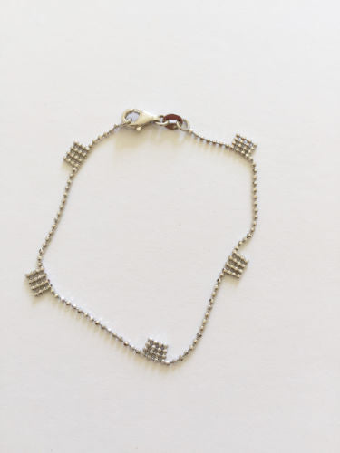 Small and Cute 14K White Gold Bracelet for baby girl - 6.75 inches