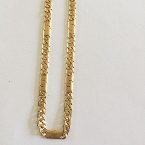 16K Yellow Gold Flat Cuban Necklace 24 inches, width: 4.7 mm- C124