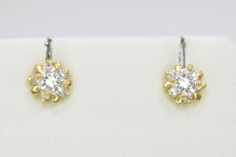 14K Yellow Gold Earrings - E76