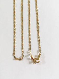 "14K Gold Tri-color Chain 16, 18, 20"" -W: 2 Mm -C1,2,80 -Beautiful necklace"