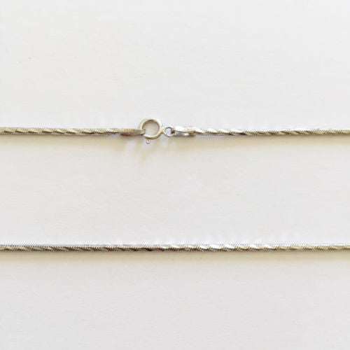 14K White Gold Snake Chain 20 inches - Width 1.3 mm - C110