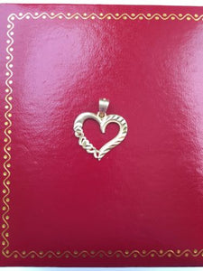 14K Yellow Gold Heart Pendant - P1